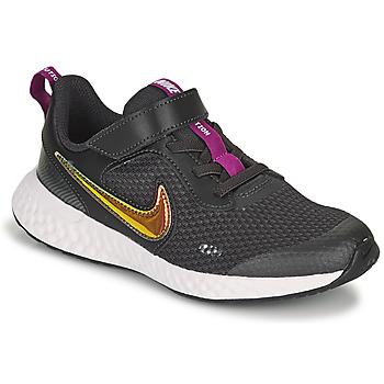 Schoenen Meisjes Lage sneakers Nike REVOLUTION 5 SE PS Zwart
