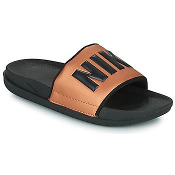 Schoenen Dames slippers Nike NIKE OFFCOURT Zwart / Brons