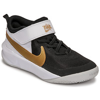 Schoenen Kinderen Allround Nike NIKE TEAM HUSTLE D 10 Wit / Zwart / Goud