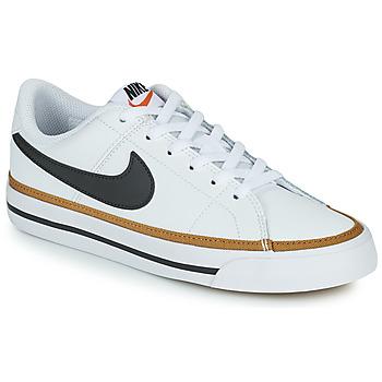 Schoenen Kinderen Lage sneakers Nike NIKE COURT LEGACY Wit / Zwart
