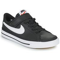Schoenen Kinderen Lage sneakers Nike NIKE COURT LEGACY Zwart / Wit
