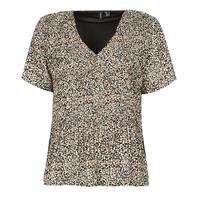 Textiel Dames Tops / Blousjes Vero Moda VMELIN Beige