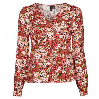 Textiel Dames Overhemden Vero Moda VMSIMPLY EASY Rood