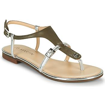 Schoenen Dames Sandalen / Open schoenen JB Martin 2GAELIA Kaki / Zilver