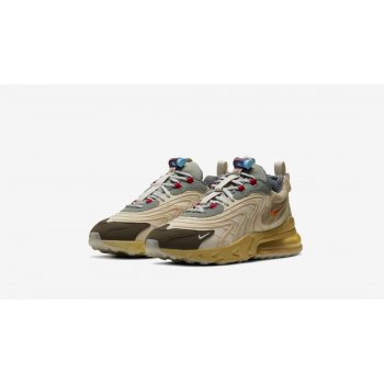 Schoenen Lage sneakers Nike Air Max 270 React x Travis Scott Light Cream/Dark Hazel-Mica Style