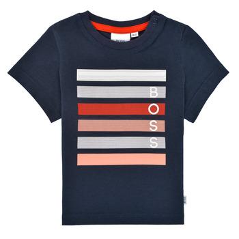 Textiel Jongens T-shirts korte mouwen BOSS FINITANA Marine