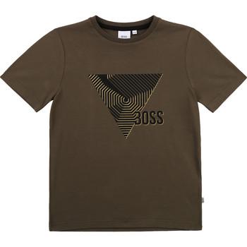 Textiel Jongens T-shirts korte mouwen BOSS J25L02-64C-J Kaki