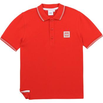 Textiel Jongens Polo's korte mouwen BOSS J25L14-997-J Rood