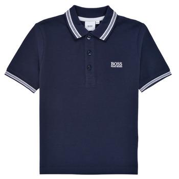 Textiel Jongens Polo's korte mouwen BOSS TONNELA Marine
