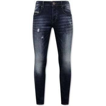 Textiel Heren Skinny jeans True Rise Stretch Spijkerbroeken Voor A Blauw