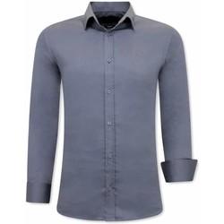 Textiel Heren Overhemden lange mouwen Tony Backer Luxe Speciale Grijs
