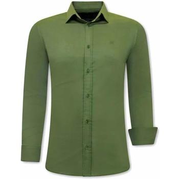 Textiel Heren Overhemden lange mouwen Tony Backer  Groen