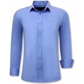 Textiel Heren Overhemden lange mouwen Tony Backer Luxe Lange Mouw Blauw