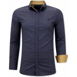 Textiel Heren Overhemden lange mouwen Tony Backer Luxe Blouse Blauw