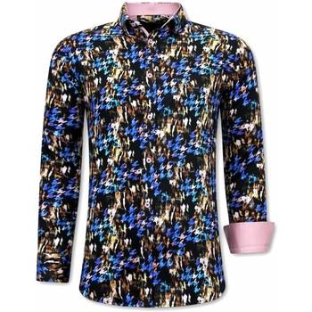 Textiel Heren Overhemden lange mouwen Tony Backer Luxe Gekleurde Zwart, Roze