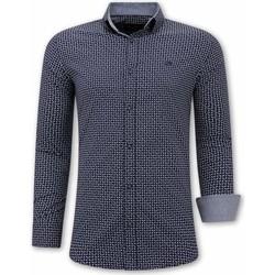 Textiel Heren Overhemden lange mouwen Tony Backer Italiaans Blouse Blauw