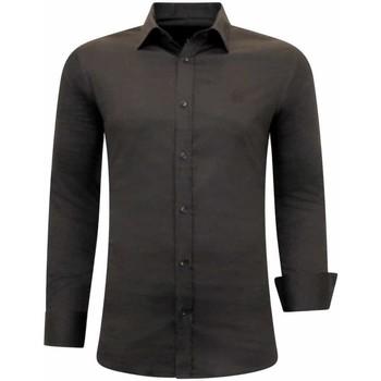 Textiel Heren Overhemden lange mouwen Tony Backer Luxe Bijzondere Bruin