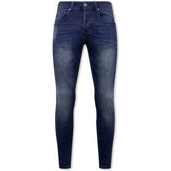 Textiel Heren Skinny jeans True Rise Spijkerbroek Stretch D Blauw