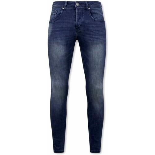 Textiel Heren Skinny jeans True Rise Spijkerbroek Stretch D3058 Blauw
