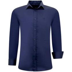 Textiel Heren Overhemden lange mouwen Tony Backer Luxe Aparte Blauw