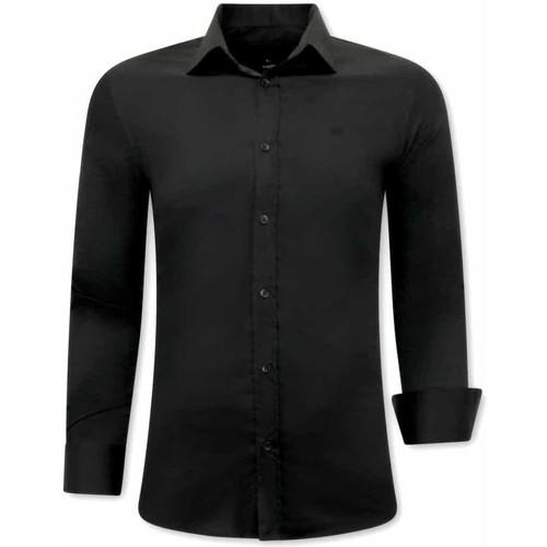 Textiel Heren Overhemden lange mouwen Tony Backer Luxe Italiaans Zwart