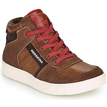 Schoenen Jongens Hoge sneakers Redskins LAVAL KID Bruin / Rood
