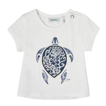Textiel Meisjes T-shirts korte mouwen Ikks XS10070-19 Wit