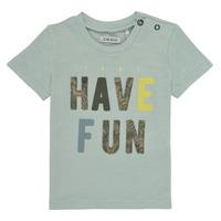 Textiel Jongens T-shirts korte mouwen Ikks XS10131-50 Blauw