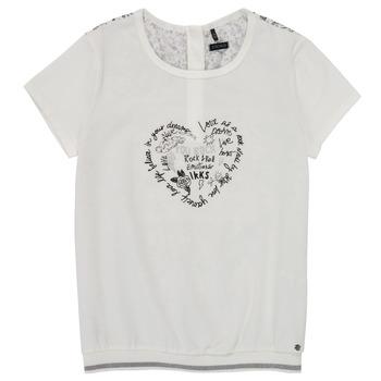 Textiel Meisjes T-shirts korte mouwen Ikks XS10242-19-J Wit