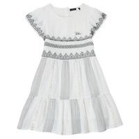 Textiel Meisjes Korte jurken Ikks XS30012-11-C Wit
