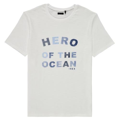 Textiel Jongens T-shirts korte mouwen Ikks XS10343-19-J Wit