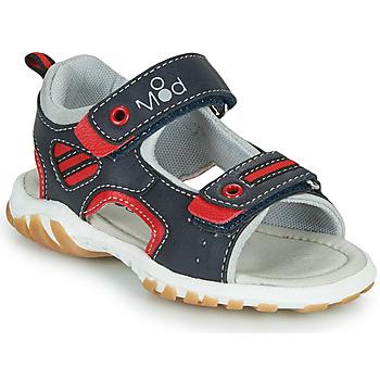 Schoenen Jongens Sandalen / Open schoenen Mod'8 TOPPY Marine / Rood