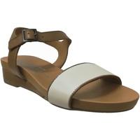 Schoenen Dames Sandalen / Open schoenen Mephisto GAETANA Bruin / wit leer