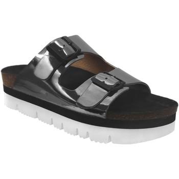 Schoenen Dames Leren slippers Plakton Bloc-sta-460010 Grijs