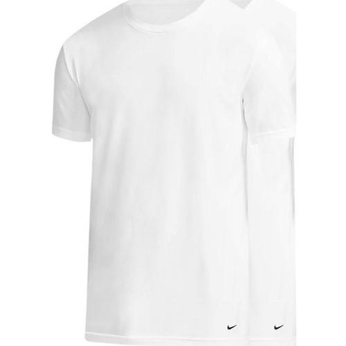 Textiel Heren T-shirts met lange mouwen Nike 0000KE1010 Bianco
