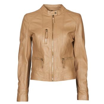 Textiel Dames Leren jas / kunstleren jas Oakwood EACH Camel