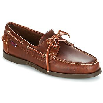 Schoenen Heren Bootschoenen Sebago DOCKSIDES Bruin