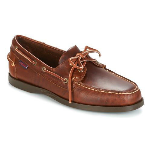 Sebago Côtés Quai Chaussures De Voile Hommes - Rouge - 44 Eu 8P82fRRl