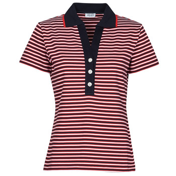 Textiel Dames Polo's korte mouwen Liu Jo WA1142-J6183-T9701 Marine / Wit / Rood