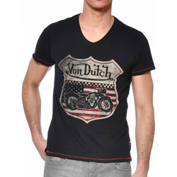 Textiel Heren T-shirts korte mouwen Von Dutch  Zwart