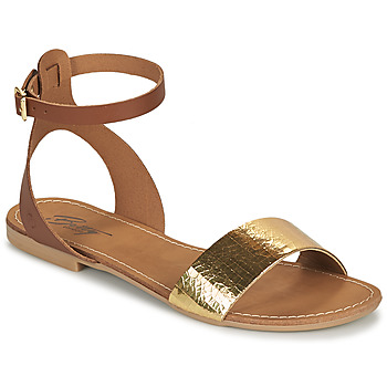 Schoenen Dames Sandalen / Open schoenen Betty London GIMY Camel / Goud