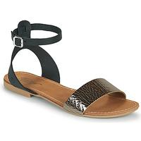 Schoenen Dames Sandalen / Open schoenen Betty London GIMY Zwart / Metaal