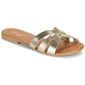 Schoenen Dames Leren slippers Betty London OIGILE Goud