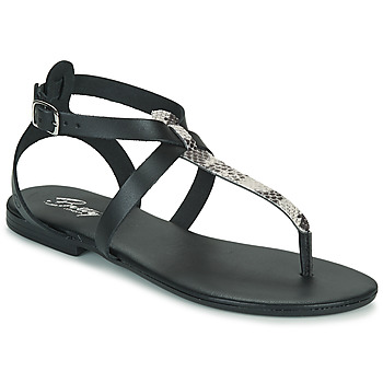Schoenen Dames Sandalen / Open schoenen Betty London ORIOUL Zwart / Grijs