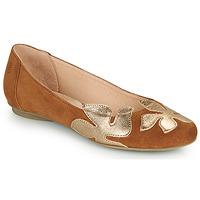 Schoenen Dames Ballerina's Betty London ERUNE Camel / Goud