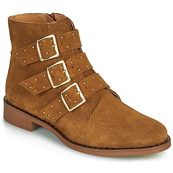 Schoenen Dames Laarzen Betty London LYS Cognac