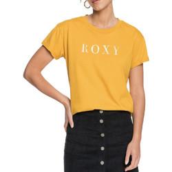 Textiel Dames T-shirts korte mouwen Roxy  Geel