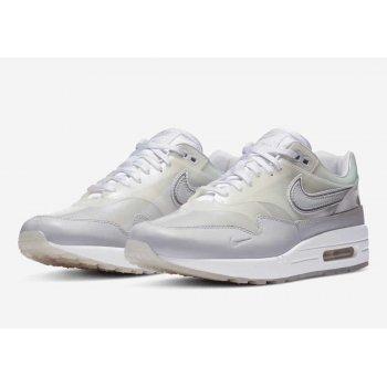 Schoenen Lage sneakers Nike Air Max 1 Sneaker Day White White/ Silver Metallic