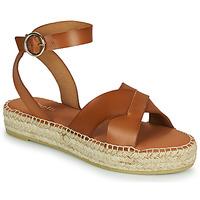 Schoenen Dames Sandalen / Open schoenen Minelli TRONUIT Bruin