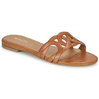 Schoenen Dames Leren slippers Minelli NANCIA Bruin